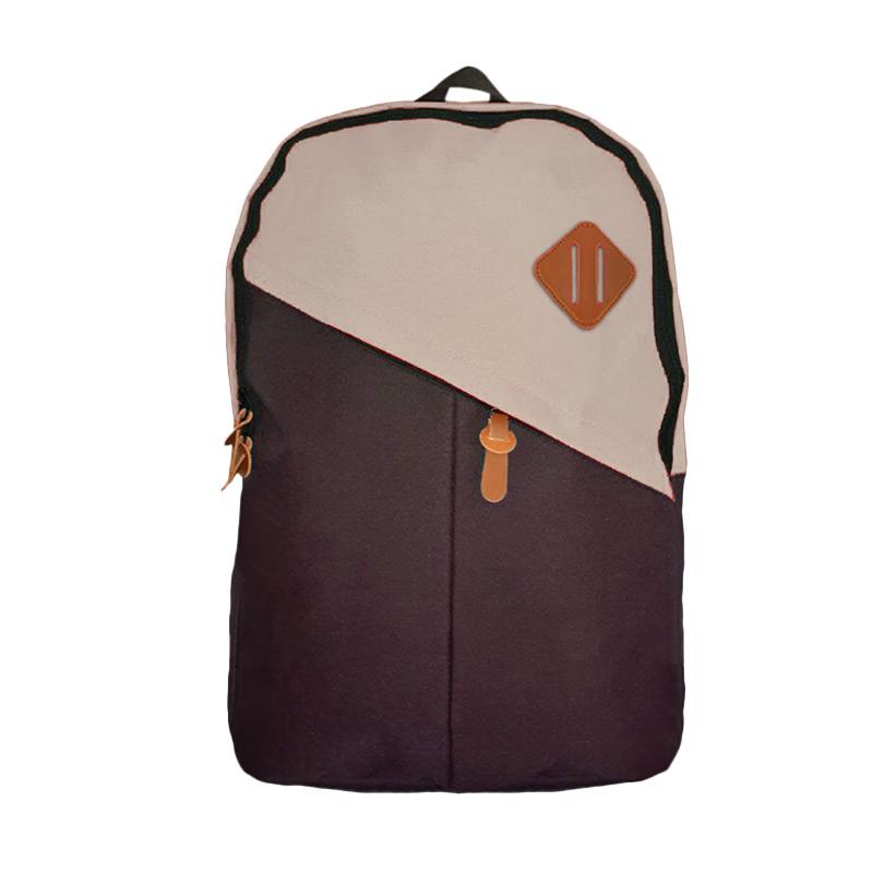 Best Bag & Stuff Mozaic Laptop Backpack - Coklat Krem