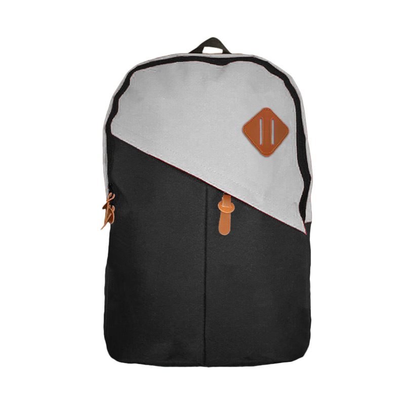 Best Bag & Stuff Mozaic Laptop Backpack - Hitam Abu