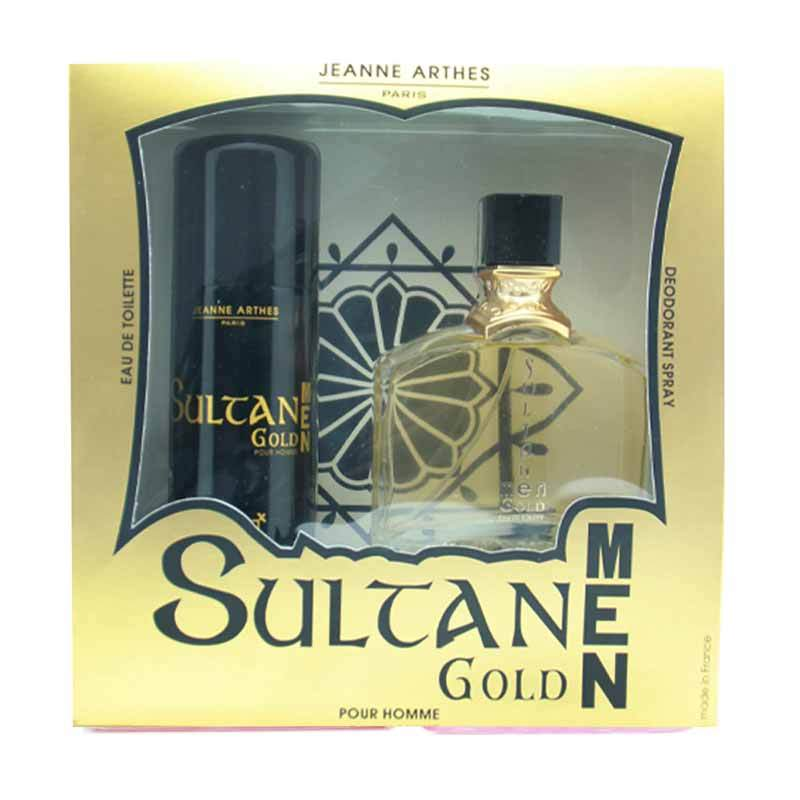 Jeanne Arthes - Sultane Men Gold EDT & Deodorant Spray