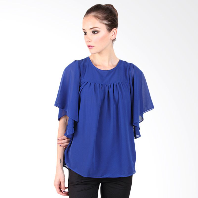 Beyounique Butterfly Sleeve Blouse Royal