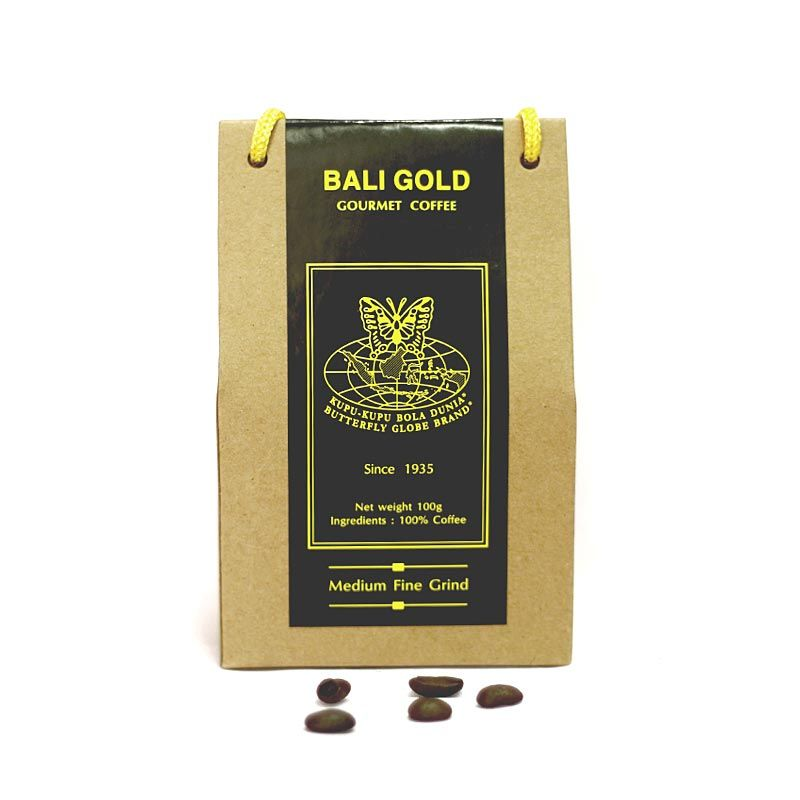 Kupu Kupu Bola Dunia - Bali Gold Coffee Kristal (Tas 100 gr)