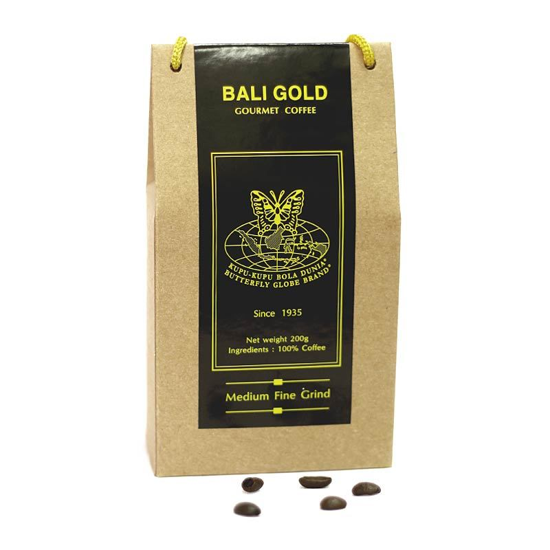Kupu Kupu Bola Dunia - Bali Gold Coffee Kristal (Tas 200 gr)