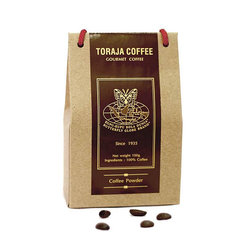 Kupu Kupu Bola Dunia - Toraja Coffee Powder (Tas 100 gr)