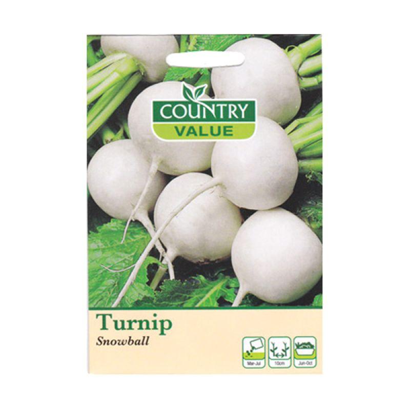 Country Value Turnip Snowball Putih Bibit Tanaman