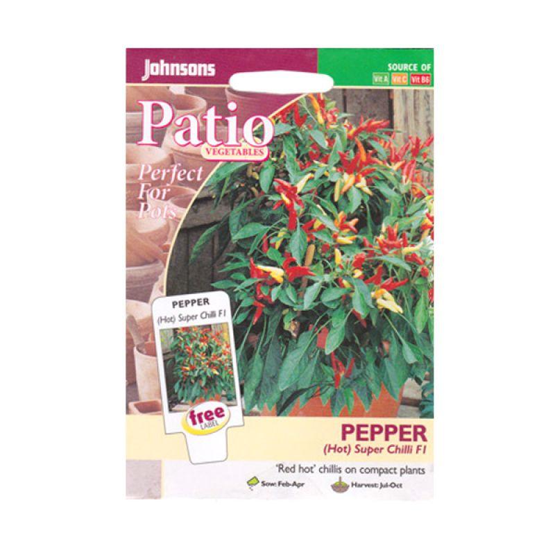 Johnsons Seed Pepper Hot Super Chili F1 Merah Bibit Tanaman