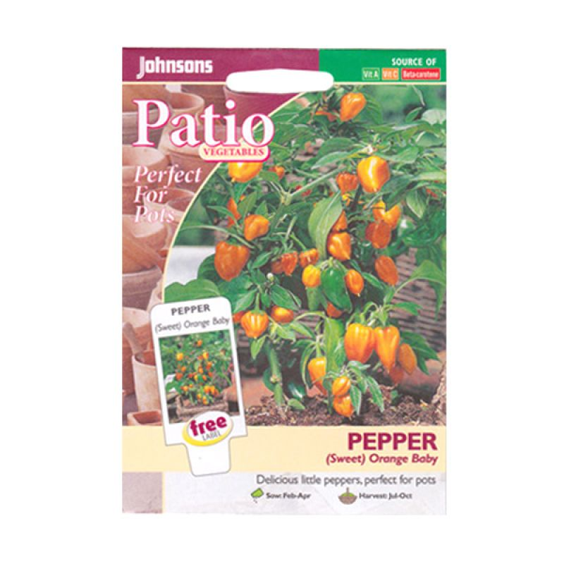 Johnsons Seed Pepper Orange Baby Bibit Tanaman [Sweet]