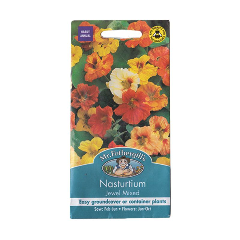 Mr Fothergill's Nasturtium Jewel Mixed Bibit Tanaman