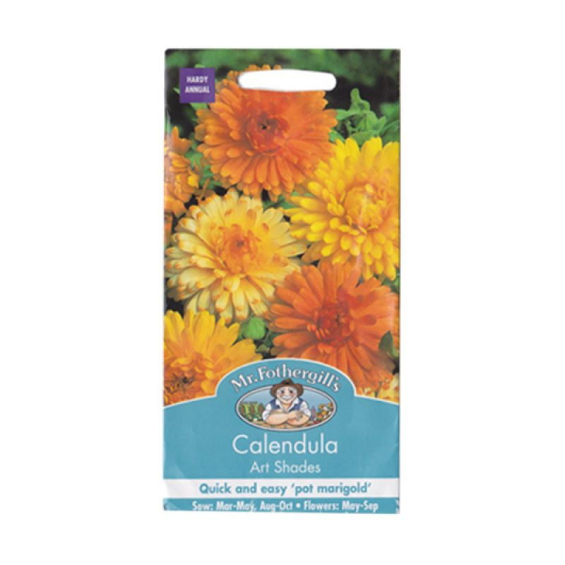 Mr Fothergill's Calendula Art Shades Bibit Tanaman