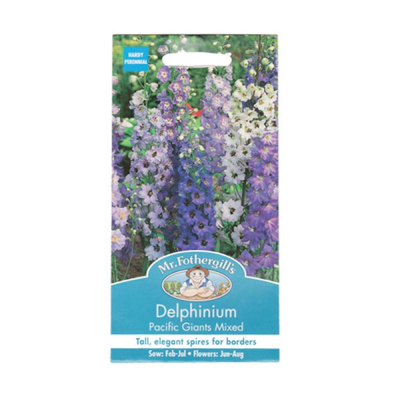 Mr Fothergill's Delphinium Pacific Giants Mixed Bibit Tanaman