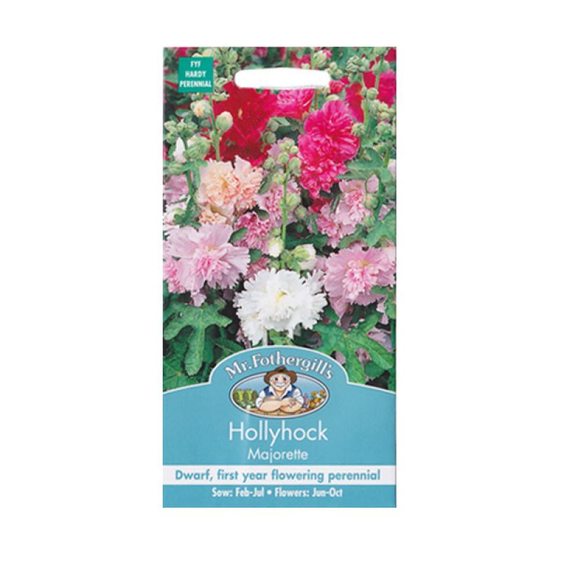 Mr Fothergill's Hollyhock Majorette Mixed Bibit Tanaman