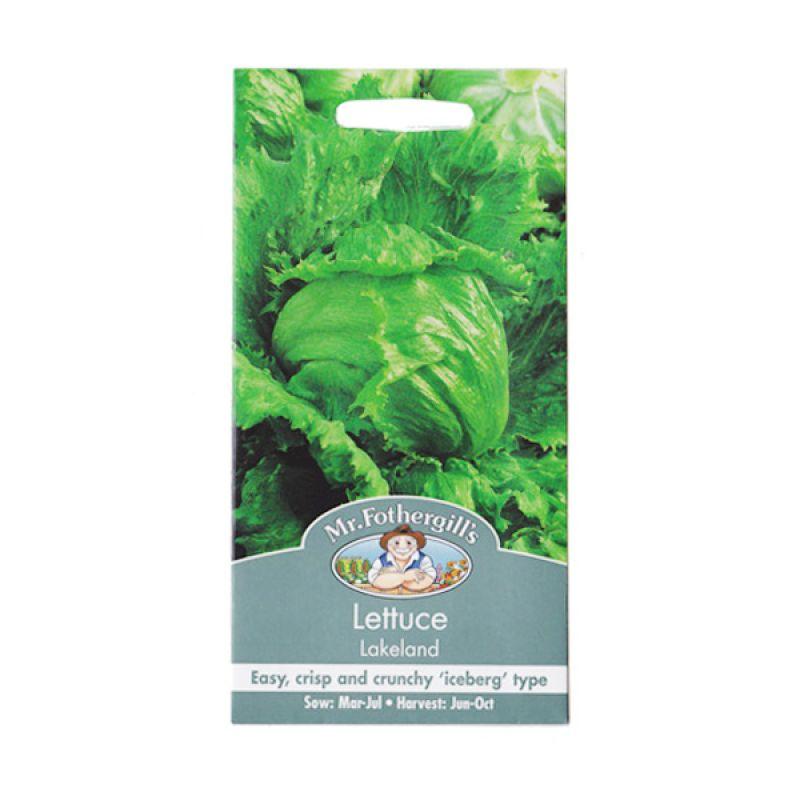 Mr Fothergill's Lettuce Lakeland Hijau Bibit Tanaman
