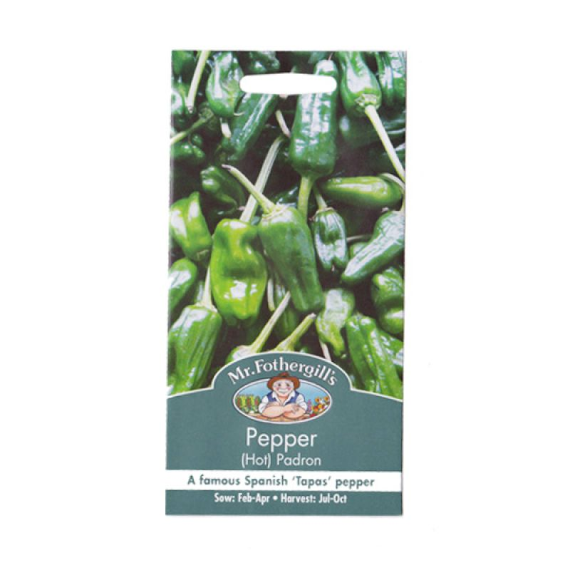 Mr Fothergill's Pepper Padron Hijau Bibit Tanaman [Hot]
