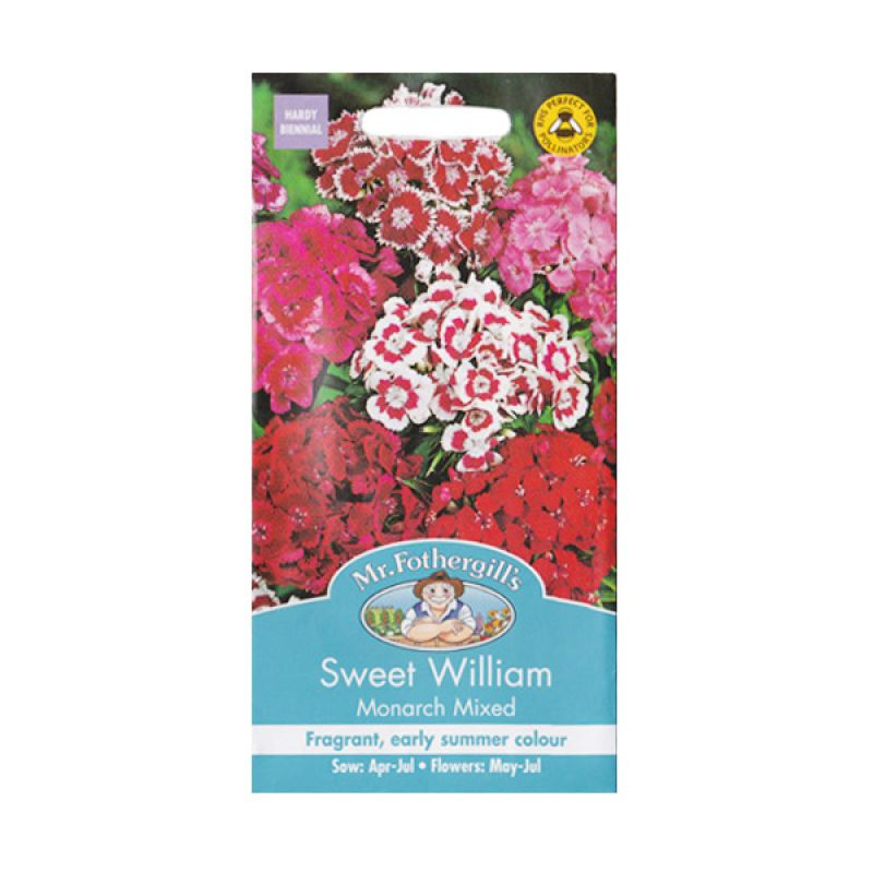 Mr Fothergill's Sweet William Monarch Mixed Bibit Tanaman