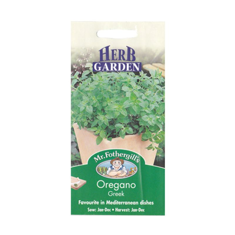 Mr Fothergill's Herb Oregano Greek Bibit Tanaman