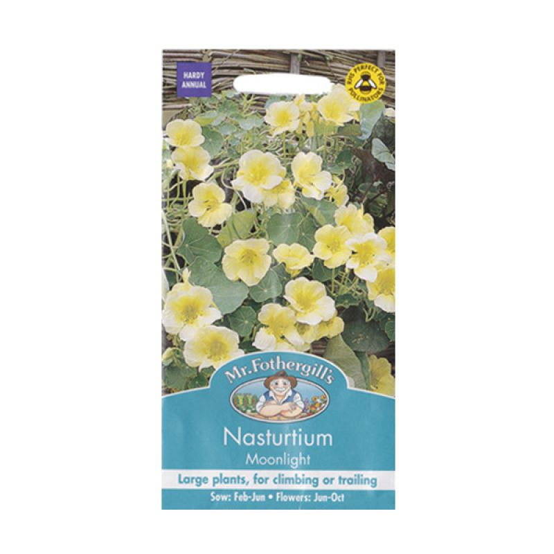 Mr Fothergill's Nasturtium Moonlight Kuning Bibit Bunga