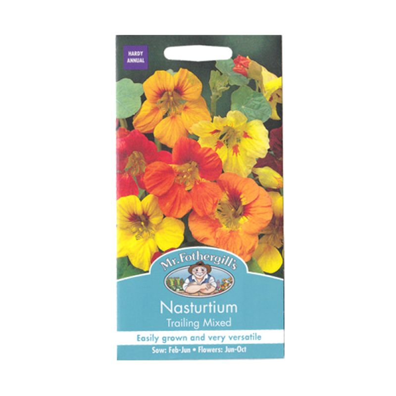 Mr Fothergill's Nasturtium Trailing Mixed Bibit Tanaman