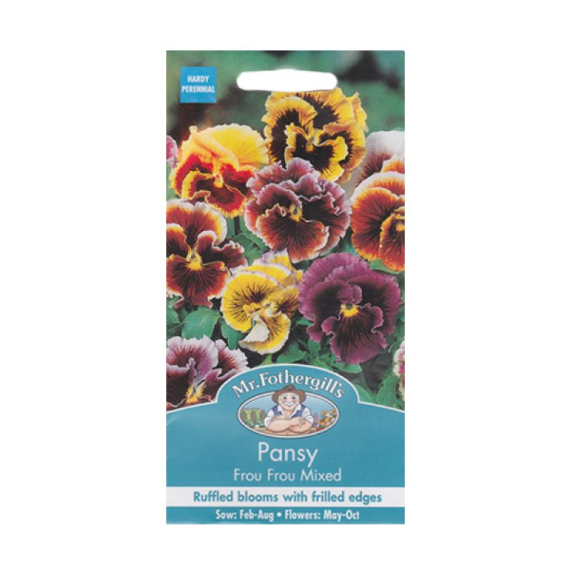 Mr Fothergill's Pansy Frou Frou Mixed Bibit Bunga