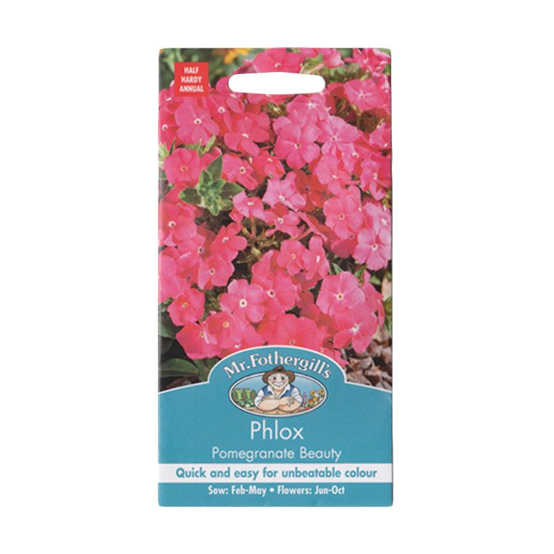 Mr Fothergill's Phlox Pomegranate Beauty Pink Bibit Tanaman