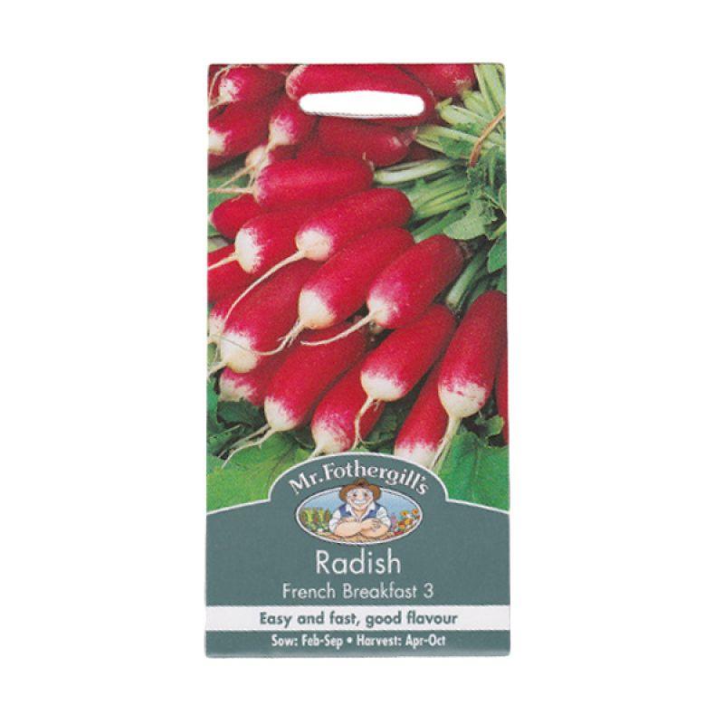 Mr Fothergill's Radish French Breakfast 3 Merah Bibit Tanaman