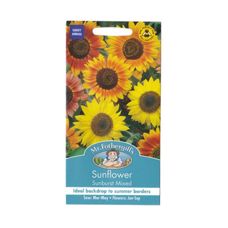 Mr Fothergill's Sunflower Sunburst Mixed Bibit Tanaman