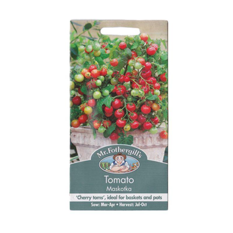 Mr Fothergill's Tomato Cherry Maskotka Merah Bibit Tanaman
