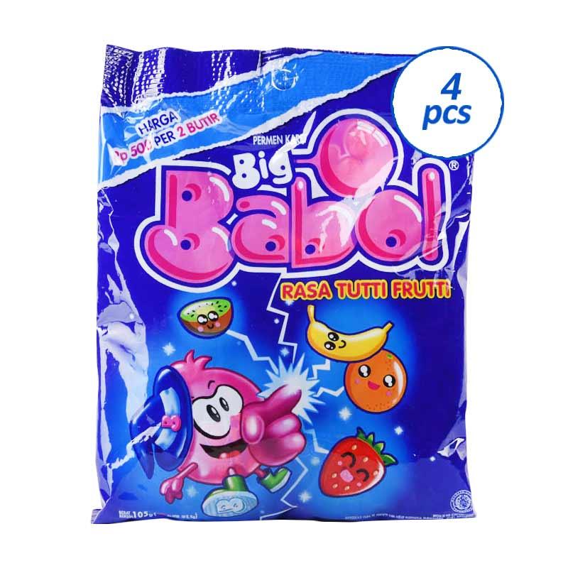 Big Babol Tutti Fruitti 825943 [30x4g] x 4 Pcs
