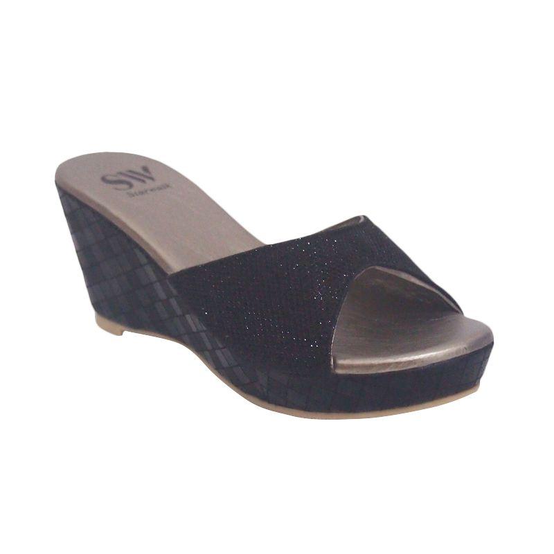 Starwalk WG 105 Black Sandal Wanita