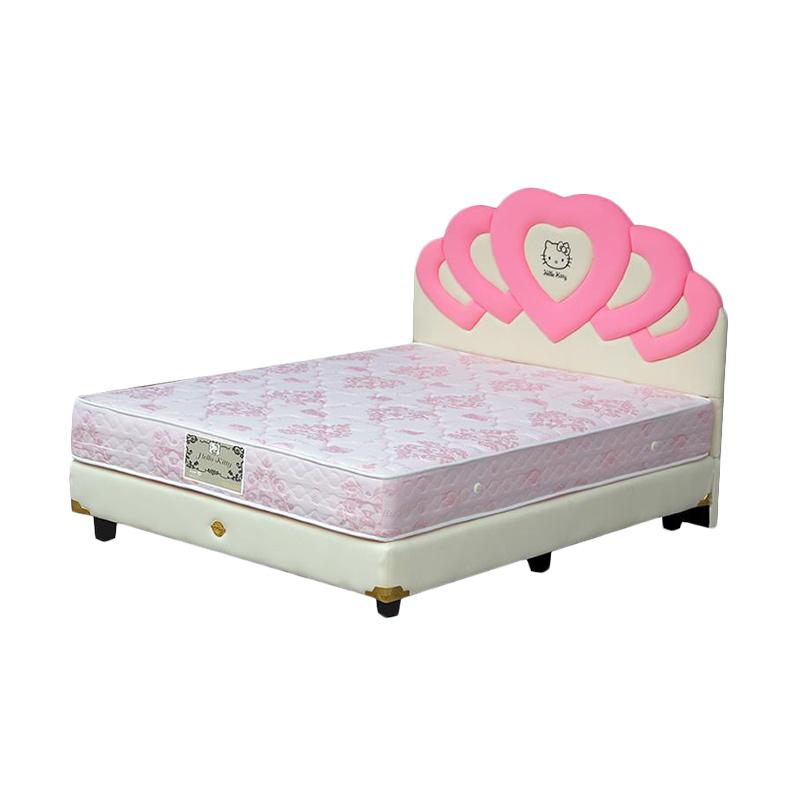 Bigland Hello Kitty Rama Pink Set Springbed [200x200 cm/Khusus Jabodetabek]