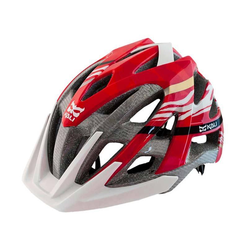 Avita Kali Helmet Composite Carbon Zebrea Red