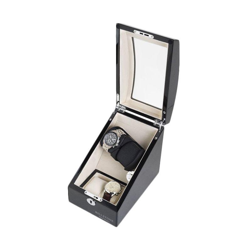 Billstone Avanti Plus Watch Winder Carbon Fiber Kotak Penyimpanan Jam Tangan [1 Jam Tangan]