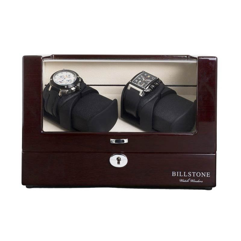 Billstone Avanti Watch Winder Walnut 425 Kotak Penyimpanan Jam Tangan [2 Jam Tangan]