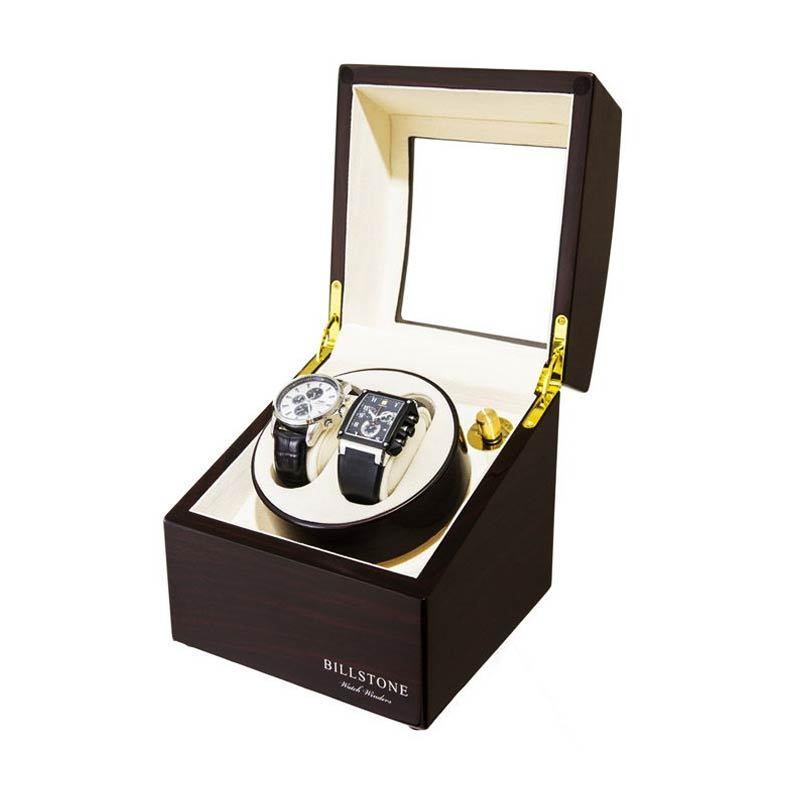 Billstone Morgentau Watch Winder Ebony 217 Kotak Penyimpanan Jam Tangan [2 Jam Tangan]
