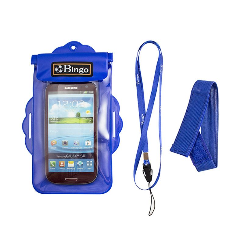 Bingo WP06-2 Zipper Waterproof Blue Casing for Handphone