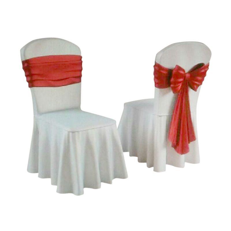 Futura ketat Pita Merah Sarung kursi