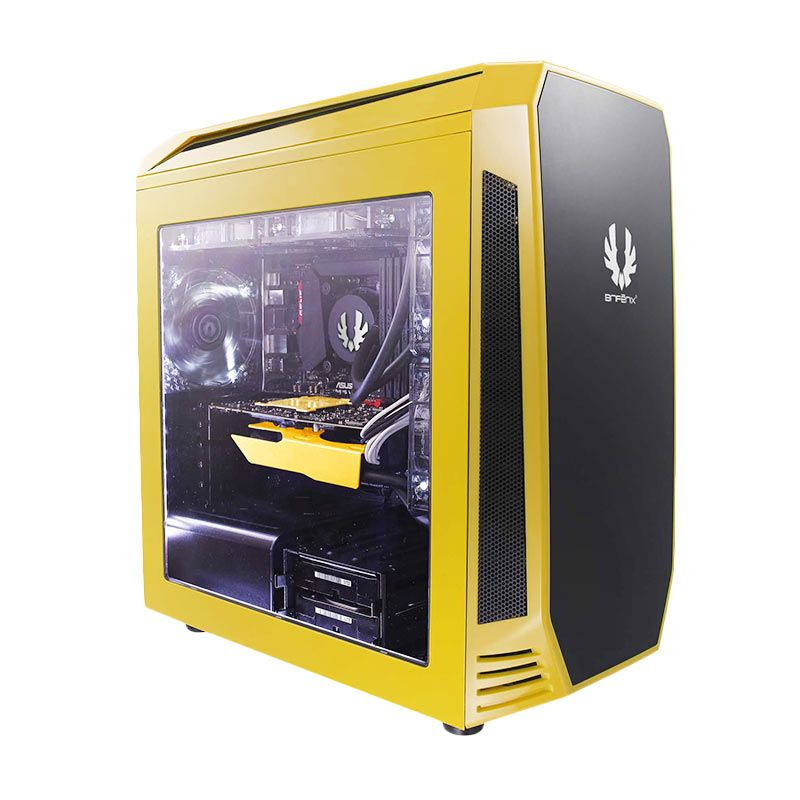 Bitfenix Aegis Yellow Casing for Motherboard Mini-ITX/MicroATX