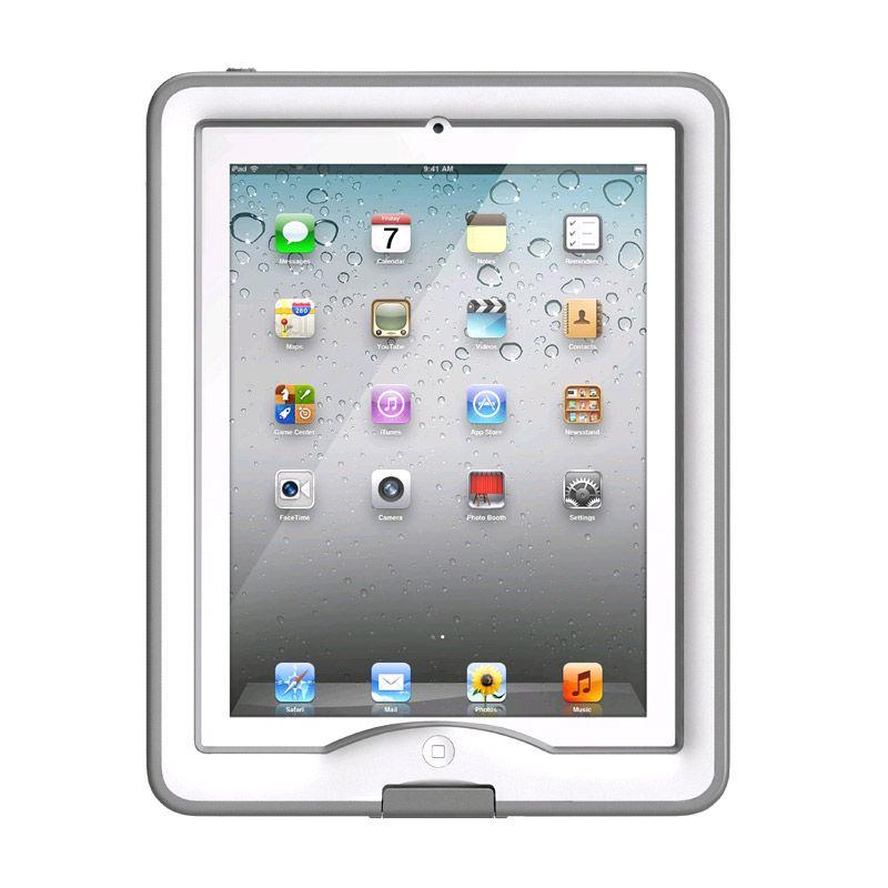 LifeProof Nuud EN-FR White Grey Casing for iPad 2 or 3 or 4