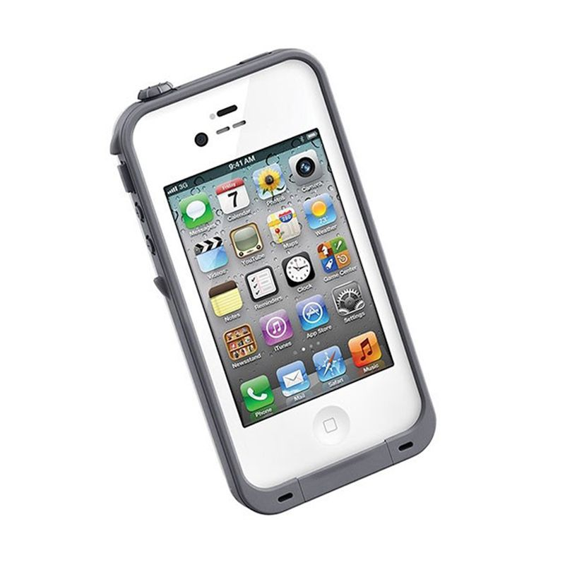 LifeProof EN White Grey Casing for iPhone 4S or 4