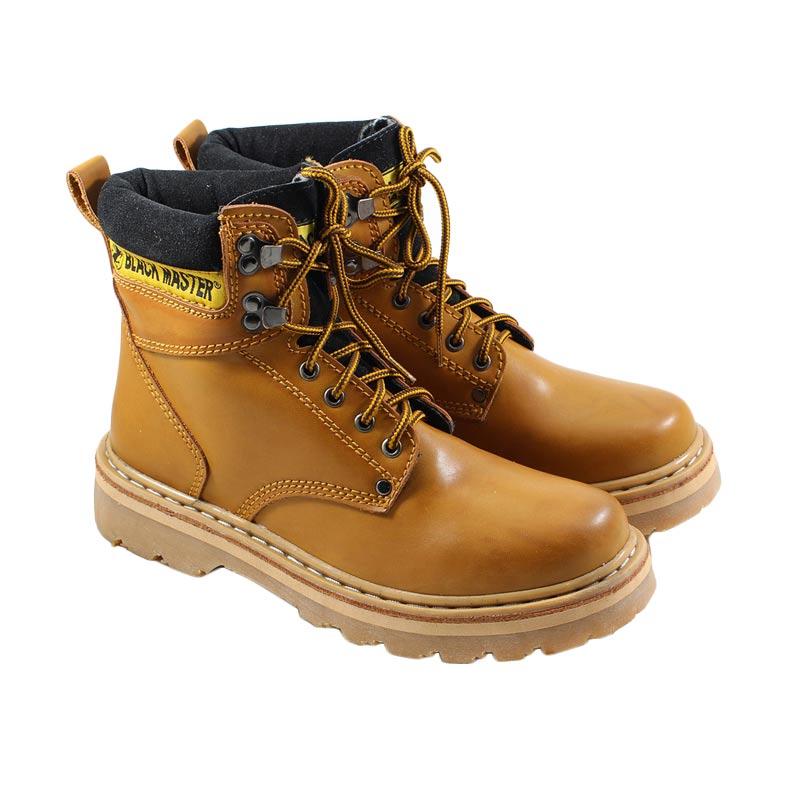 harga Black Master Kulit Asli Overload Sepatu Boots Pria - Tan Blibli.com
