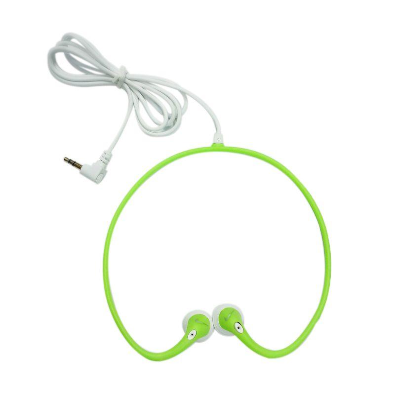 Easy To Wear Sports DJ Neckband Green Headset