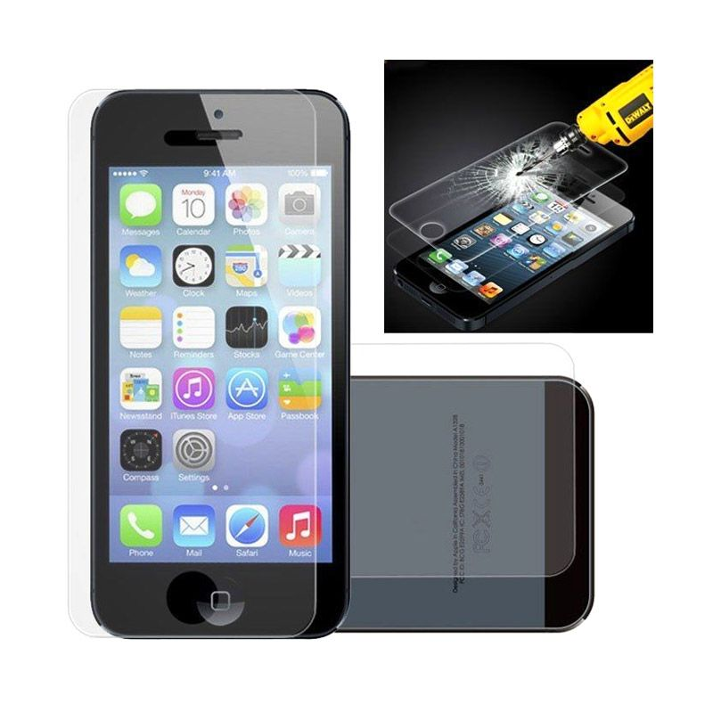 K-Box Full Colour Mirror Tempered Glass Screen Protector for iPhone 5 [Front Back]