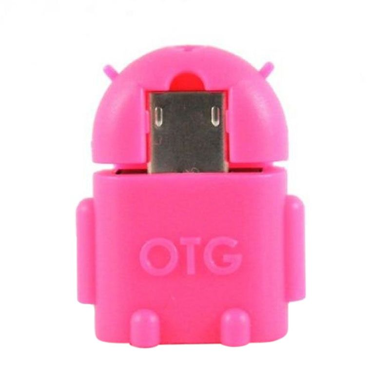 OTG Android Pink USB Adapter