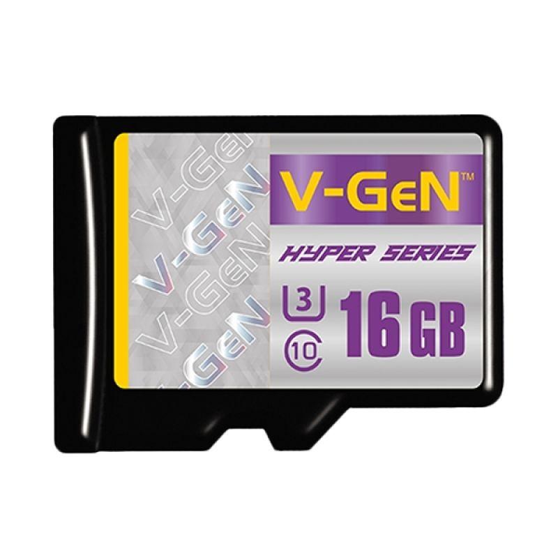 V-Gen Hyper Series Micro SDHC Class 10 Memory Card [16 GB]