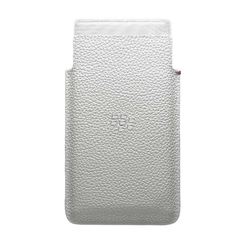 Blackberry Original Leather Putih Pocket for Blackberry Leap
