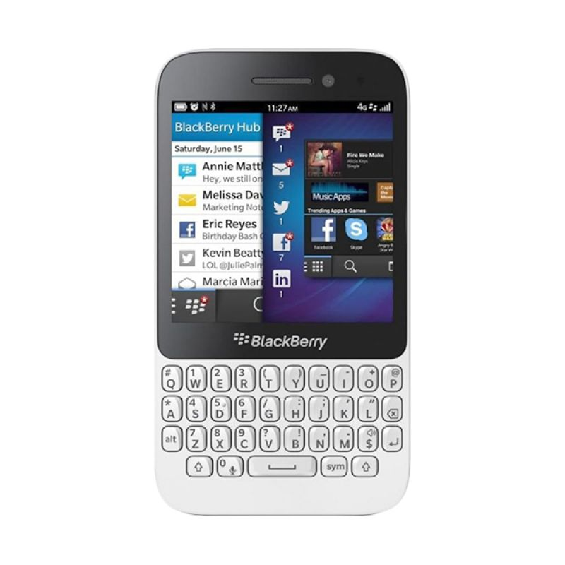 BlackBerry Q5 Smartphone - Putih