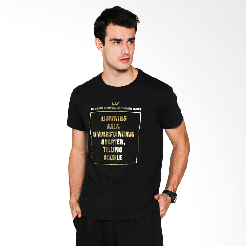 Blackgold Half Quaeter Double TS-75 T-Shirt - Black Extra diskon 7% setiap hari Extra diskon 5% setiap hari Citibank – lebih hemat 10%