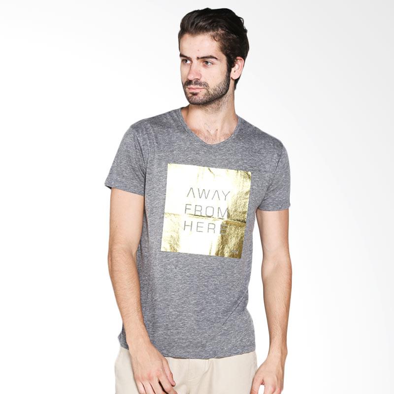 Blackgold T-shirt Away From Here TS-44 Atasan Pria - Light Grey Extra diskon 7% setiap hari Extra diskon 5% setiap hari Citibank – lebih hemat 10%