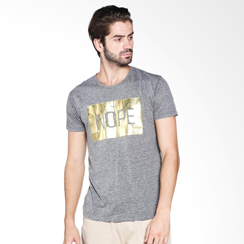 Blackgold T-shirt Nope Block TS-47 Atasan Pria - Light Grey Extra diskon 7% setiap hari Extra diskon 5% setiap hari