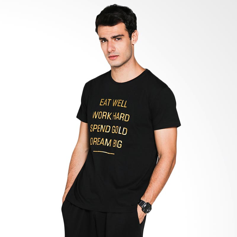 Blackgold T-shirt Spend Gold TS-83 Atasan Pria - Black Extra diskon 7% setiap hari Extra diskon 5% setiap hari Citibank – lebih hemat 10%