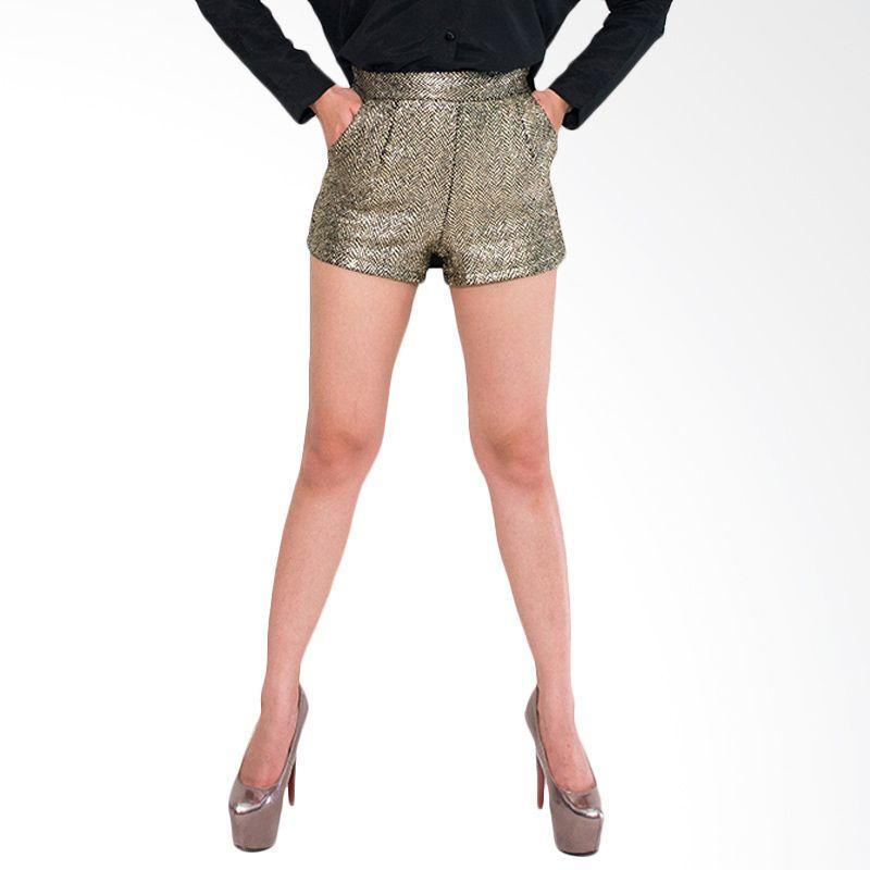 Blaize Edgy Shimmer Short Gold Celana Pendek Wanita