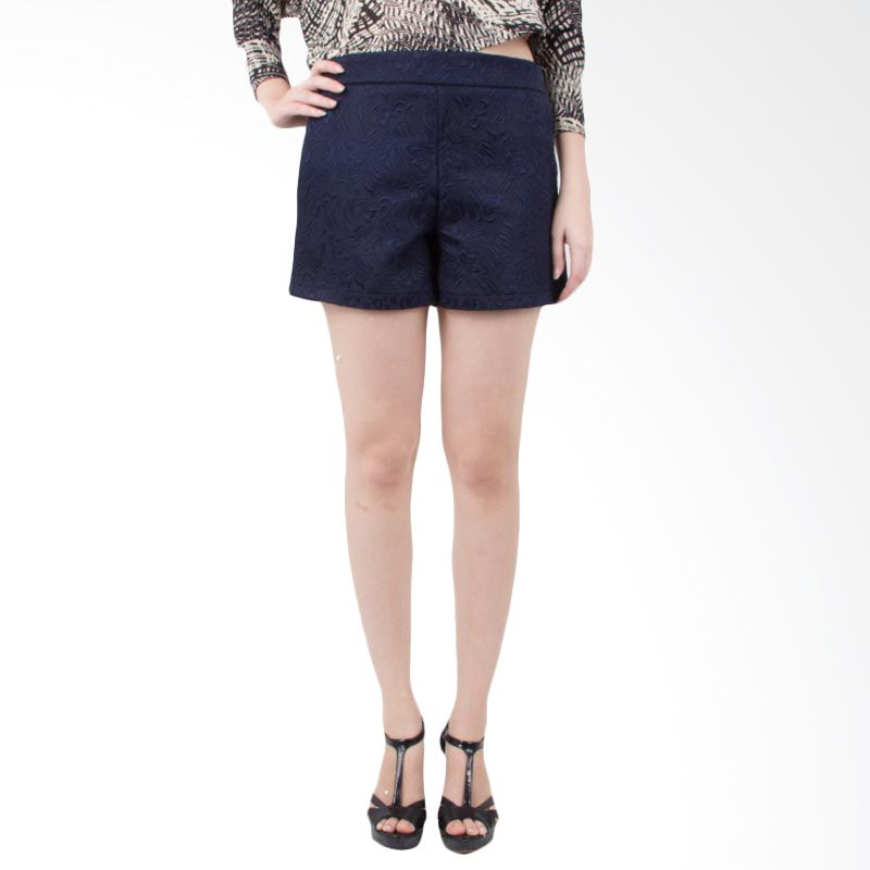 Blaize Highwaist Embellished Navy Shorts